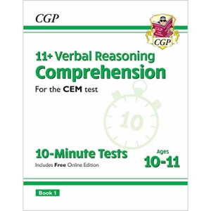 11+ CEM 10-Minute Tests: Comprehension - Ages 10-11 Book 1 (with Online Edition): unbeatable revision for the 2022 tests (CGP 11+ CEM)