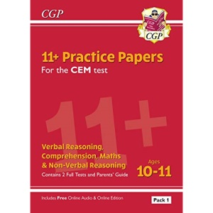 11+ CEM Practice Papers: Ages 10-11 - Pack 1 (with Parents' Guide & Online Edition): unbeatable practice for the 2022 tests (CGP 11+ CEM)