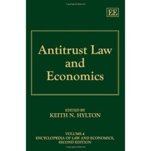 Antitrust Law and Economics (Encyclopedia of Law and Economics)
