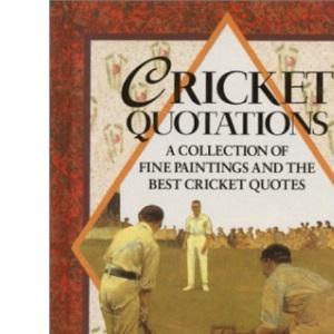 Cricket Quotations (Quotation Book)