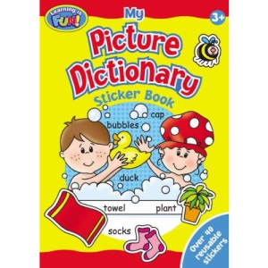 Picture Dictionary Sticker Book (2 Titles): Out and About , At Home (Learning is Fun S.)