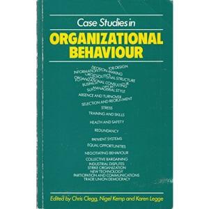 Case Studies in Organizational Behaviour
