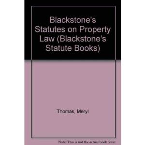 Blackstone's Statutes on Property Law (Blackstone's Statute Books)