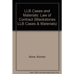 LLB Cases and Materials: Law of Contract (Blackstones LLB Cases & Materials)