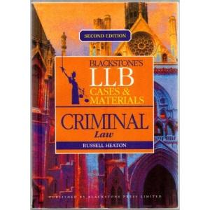 LLB Cases and Materials: Criminal Law (Blackstones LLB Cases & Materials)