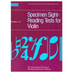 Specimen Sight-Reading Tests for Violin: Grades 1-5