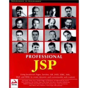 Professional JSP: Using JavaServer Pages, Servlets, EJB, JNDI, JDBC, XML, XSLT, and WML to create dynamic and customizable web content