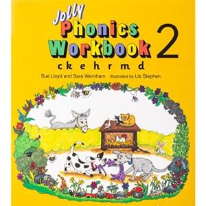 Jolly Phonics Workbook: ck, e, h, r, m, d