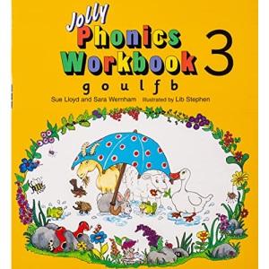 Jolly Phonics Workbook 3: in Precursive Letters (British English edition): G, O, U, L, F, B