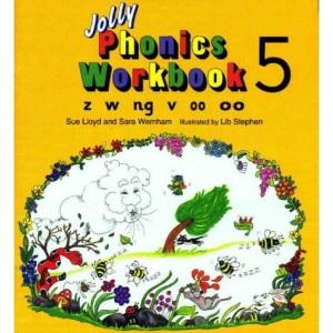 Jolly Phonics Workbook 5: in Precursive Letters (British English edition)