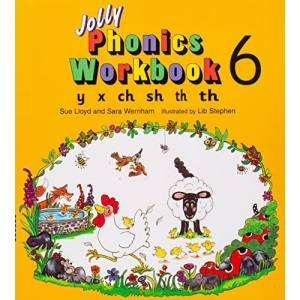 Jolly Phonics Workbook: y, x, ch, sh, th