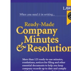 Ready Made Company Minutes and Resolutions
