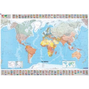 The World (Michelin Laminated Wall Maps)