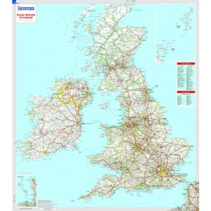 Great Britain and Ireland Michelin Wall Map (rolled and tubed) (Michelin Wall Maps)