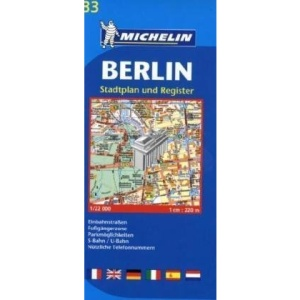 Berlin Plan: Stadtplan und Register (Michelin City Plans)