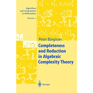 Completeness and Reduction in Algebraic Complexity Theory (Algorithms and Computation in Mathematics)
