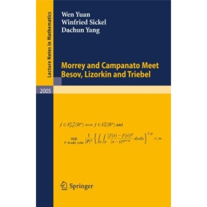 Morrey and Campanato Meet Besov, Lizorkin and Triebel (Lecture Notes in Mathematics)