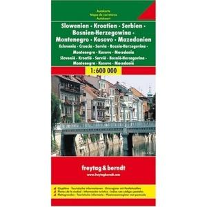 Slovenia - Croatia - Serbia-Montenegro - Bosnia-Hercegovina - Macedonia (1:600 000)