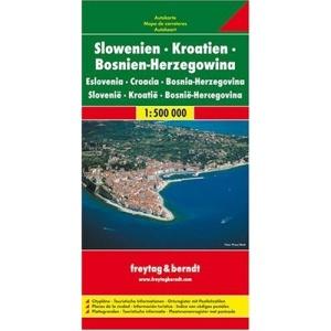 Slovenia - Croatia - Bosnia-Hercegovina: Citypläne, Touristische Informationen, Ortsregister mit Postleitzahlen. Touristische Informationen. Dalmatinische Inseln 1:275 000. Schifffahrtslinien