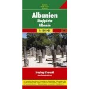 Albania Road Map (Country Road & Touring): Ortsregister mit Postleitzahlen. Touristische Informationen. Entfernungen in km (Road Maps)