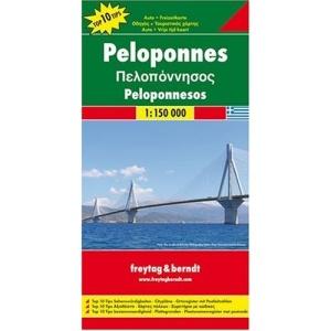 Peloponnese: FB.G094 (Road and Leisure Time Map): Auto- und Freizeitkarte. Top 10 Tips Sehenswürdigkeiten. Citypläne. Ortsregister mit Postleitzahlen