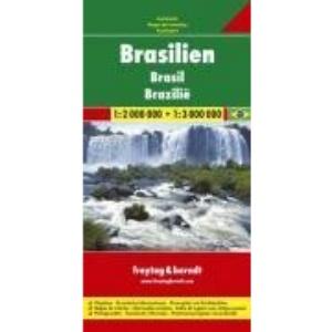 Brasilien / Brasil / Brazil: Stadtpläne, Ortsregister, Entfernungen in km
