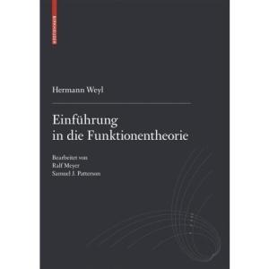 Einfa1/4hrung in Die Funktionentheorie