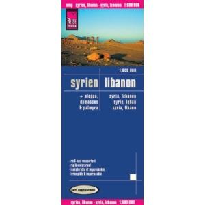 Syrien, Libanon / Syria, Lebanon 1 : 600 000: mit Aleppo, Damascus und Palmyra. Exakte Höhenlinien. Höhenschichten-Relief. GPS-tauglich durch ... Straßennetz. Ausführlicher Ortsindex