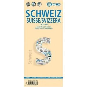Switzerland: Schweiz-West, Schweiz-Ost, Schweiz politisch & Alpenpässe, Europa Zeitzonen