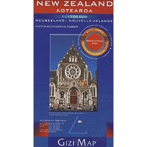 New Zealand Aotearoa Geographical Map