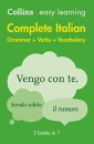 Easy Learning Italian Complete Grammar, Verbs and Vocabulary (3 books in 1): Trusted support for learning (Collins Easy Learning Italian)