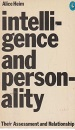 Intelligence and Personality: Their Assessment and Relationship (Pelican)