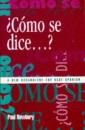 Como Se Dice...?: New Vocabulary for GCSE Spanish (GCSE Vocabulary)