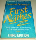 Everyman Dict.First Names (3rd Ed)