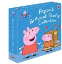 Peppa Pig Brilliant Story Collection‎ 5 Books Box Children Gift Set (George's First Day At Play Group, Peppa Goes Swimming, George Catches a Cold, Fun at The Fair, Peppa's First Sleepover)