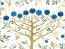 Chanukah Tree of Lights Holiday Embellished Notecards (Christmas Embellished Notecard)
