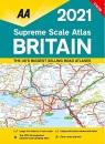 Supreme Scale Atlas Britain 2021 Spiral Bound (AA Road Atlas Britain)