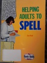 Helping Adults to Spell