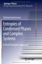 Entropies of Condensed Phases and Complex Systems: A First Principles Approach (Springer Theses) - Christian Spickermann